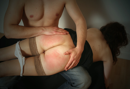 Red Charls Over the Knee Spanking